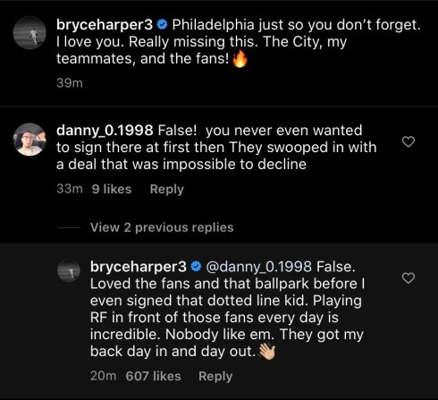 bryce harper comment